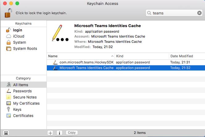 Microsoft Teams for Mac: login fails with endless loop
